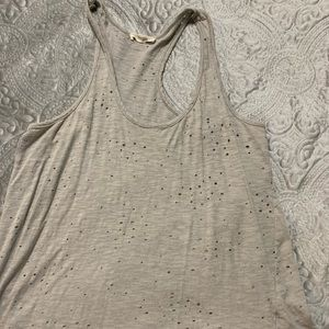 Light grey distressed tank